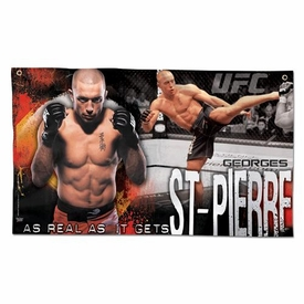 Wincraft UFC & MMA Mixed Martial Arts Wall Banner Georges St. Pierre