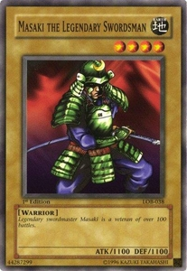 YuGiOh Legend of Blue Eyes White Dragon Single Card Common LOB-038 Masaki the Legendary Swordsman