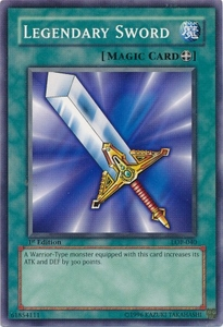 YuGiOh Legend of Blue Eyes White Dragon Single Card Common LOB-040 Legendary Sword