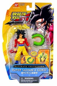 Dragonball Z Ultimate Collection 4 Inch Figure Super Saiyan 4 Goku [GT] [Shenron Dragon Tail!] BLOWOUT SALE! Damaged Packaging, Mint Contents!