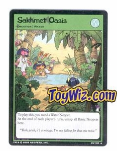 Neopets Trading Card Game Lost Desert Single Card Rare  35/100 Sakhmet Oasis