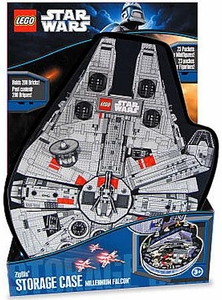 LEGO Star Wars ZipBin Millenium Falcon Small Mini Figure Carry Case & Playmat