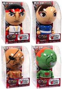 Street Fighter SOTA Toys Set of all 4 Bobble Budds [Ryu, Sagan, Chun-li & Blanka]