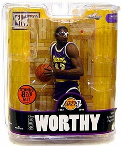 McFarlane Toys NBA Sports Picks Legends Series 3 Action Figure James Worthy (Los Angeles Lakers) Purple Jersey Variant