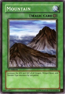 YuGiOh Legend of Blue Eyes White Dragon Single Card Common LOB-048 Mountain