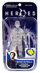 Heroes Mezco Toyz Wizard Exclusive Action Figure Invisible Peter Petrelli [Clear Version]