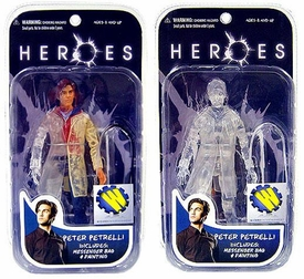 Heroes Mezco Toyz Wizard Exclusive Set of 2 Action Figures Peter Petrelli [Phasing & Invisible] Only 500 Made!