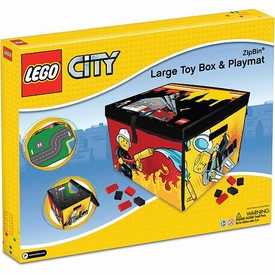 LEGO CITY Fire ZipBin Large Toy Box & Playmat