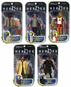 Heroes Mezco Toyz Series 1 Set of 5 Action Figures [Claire, Peter, Mohinder, Hiro & Sylar]