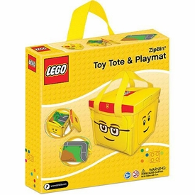 LEGO Head ZipBin Toy Tote Carry Case & Playmat