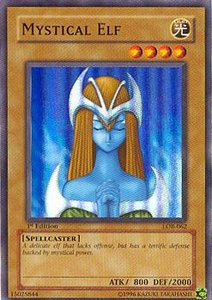 YuGiOh Legend of Blue Eyes White Dragon Single Card Super Rare LOB-062 Mystical Elf