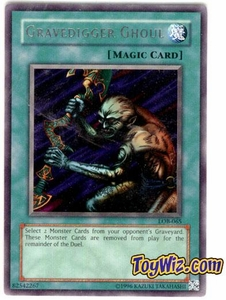 YuGiOh Legend of Blue Eyes White Dragon Single Card Rare LOB-065 Gravedigger Ghoul