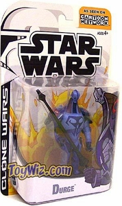 Star Wars Clone Wars Cartoon Network Action Figure Durge BLOWOUT SALE!