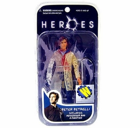 Heroes Mezco Toyz Wizard Exclusive Limited Edition Action Figure Phasing Peter Petrelli [Partially Clear] Only 500 Made!