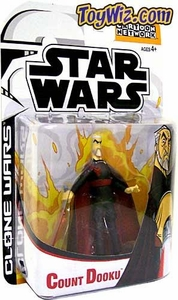 Star Wars Clone Wars Cartoon Network Action Figure Count Dooku BLOWOUT SALE!