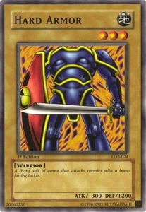 YuGiOh Legend of Blue Eyes White Dragon Single Card Common LOB-074 Hard Armor