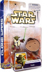 Star Wars Clone Wars Army Of The Republic Yoda BLOWOUT SALE!