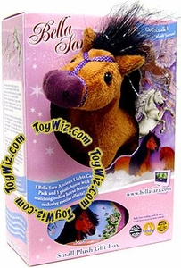 Bella Sara 5 Inch Plush Horse Figure Gift Box Jewel [Light Brown Horse]