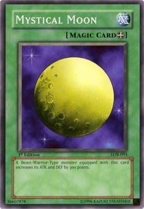 YuGiOh Legend of Blue Eyes White Dragon Single Card Common LOB-094 Mystical Moon