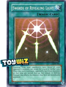 YuGiOh Legend of Blue Eyes White Dragon Single Card Super Rare LOB-101 Swords of Revealing Light