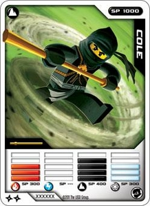LEGO Ninjago Single Card 12/81 Cole