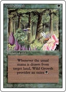 Magic the Gathering Revised Edition Single Card Common Wild Growth