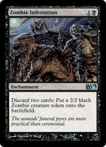 Magic the Gathering Magic 2012 [M12] Single Card Black Uncommon #120 Zombie Infestation