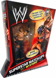 Mattel WWE Wrestling Superstar Match-Ups Action Figure Rey Mysterio [Orange & Purple]