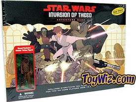 Star Wars Phantom Menace  Prototype Invasion of Theed Adventure Game with Exclusive Rowrr Wookie