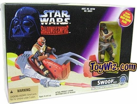 Star Wars POTF2 Shadows of the Empire Swoop Bike with Mercenary Trooper