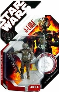 Star Wars 30th Anniversary Saga 2007 Action Figure Wave 6 #41 4-Lom