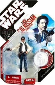 Star Wars 30th Anniversary Saga 2007 Action Figure Wave 6 #39 Lando Calrissian in Smuggler Outfit