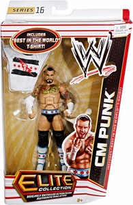 Mattel WWE Wrestling Elite Series 16 Action Figure CM Punk [Best in the World T-Shirt!]