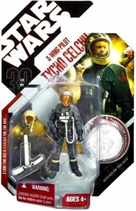 Star Wars 30th Anniversary Saga 2007 Action Figure Wave 7 #44 Tycho Celchu [A-Wing Pilot]