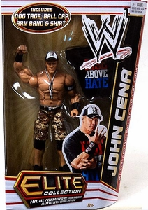 Mattel WWE Wrestling Elite Series 17 Action Figure John Cena [Dog Tags, Ball Cap, Arm Band & Rise Above Hate T-Shirt!]