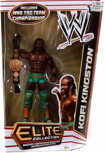 Mattel WWE Wrestling Elite Series 17 Action Figure Kofi Kingston [WWE Tag Team Championship Belt!]
