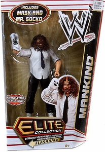 Mattel WWE Wrestling Elite Series 17 Action Figure Mankind [Mask & Mr. Socko!]