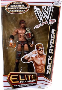 Mattel WWE Wrestling Elite Series 17 Action Figure Zack Ryder [Sunglasses, Bandana & Internet Championship Belt!]
