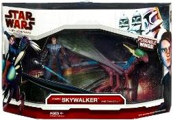 Star Wars 2009 Vehicle Figure Pack Anakin Skywalker on Can-cell