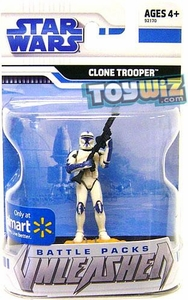 Star Wars 2009 Battle Packs Unleashed Exclusive Single Figure Clone Trooper