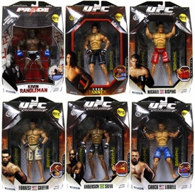 UFC Jakks Pacific Series 1 Set of 6 Deluxe Action Figures [Liddell, Silva, Griffin, Bisping, Tanner & Randleman]