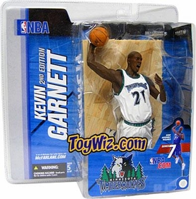 McFarlane Toys NBA Sports Picks Series 7 Action Figure Kevin Garnett (Minnesota Timberwolves) White Jersey Variant