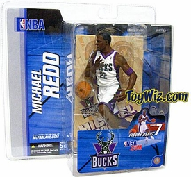 McFarlane Toys NBA Sports Picks Series 7 Action Figure Michael Redd (Milwaukee Bucks) White Jersey