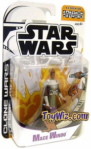 Star Wars Clone Wars Cartoon Network Action Figure Mace Windu