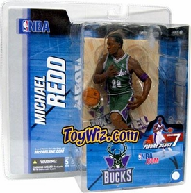 McFarlane Toys NBA Sports Picks Series 7 Action Figure Michael Redd (Milwaukee Bucks) Green Jersey Variant