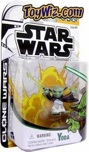 Star Wars Clone Wars Cartoon Network Action Figure Yoda BLOWOUT SALE!