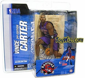 McFarlane Toys NBA Sports Picks Series 7 Action Figure Vince Carter (Toronto Raptors) Purple Jersey