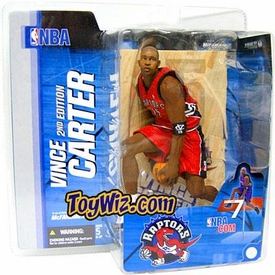 McFarlane Toys NBA Sports Picks Series 7 Action Figure Vince Carter 2 (Toronto Raptors) Red Jersey Variant
