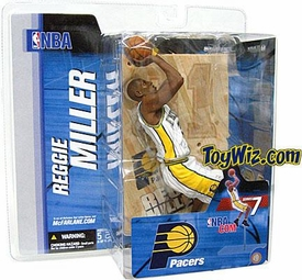 McFarlane Toys NBA Sports Picks Series 7 Action Figure Reggie Miller (Indiana Pacers) White Jersey