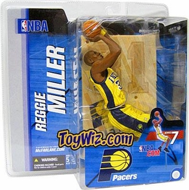 McFarlane Toys NBA Sports Picks Series 7 Action Figure Reggie Miller (Indiana Pacers) Yellow Jersey Variant